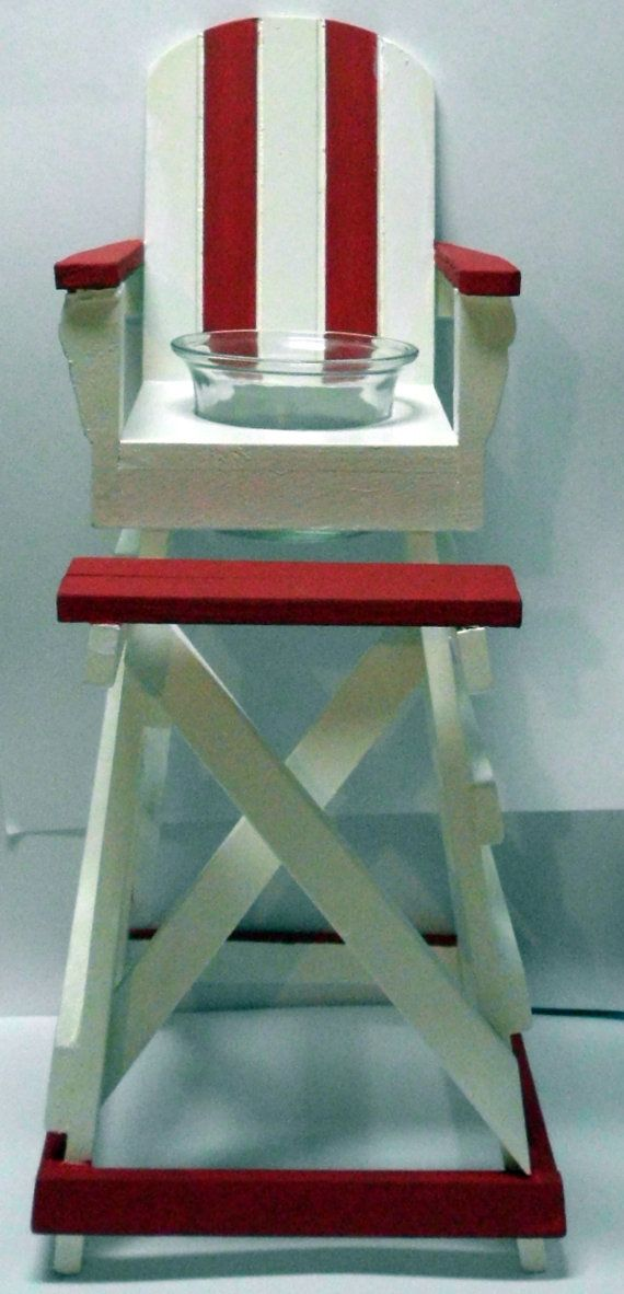lifeguard chair votive candle holder beach by