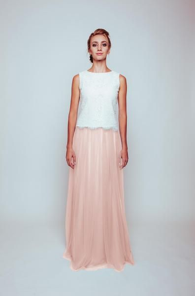 Maya Tulle Skirt and Lace top is perfect for Bridesmaids or for any occasion! All items aretailored to order and come with afull length tulle skirt, lined with silk and corded lace top.    Bridesmaid dress   Pale pink wedding   Pink wedding   Pink bridesmaid dress   Dusty pink wedding   Dusty pink bridesmaid dress   Pale pink bridesmaid dress