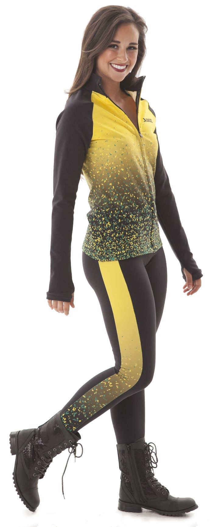 Custom Warm Ups! Ashwaubenon 2015-2016 dance team Warm Ups, leggings and ombre jacket