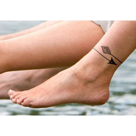 tatouage cheville fleche tatoo ankle tattoo designs arrow tattoos anklet tattoos. Black Bedroom Furniture Sets. Home Design Ideas