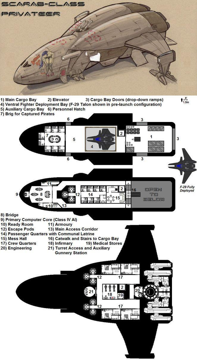 227 best deckplans starship images on pinterest deck plans dark nova scarab deckplans by breandan ociarrai baanklon Choice Image