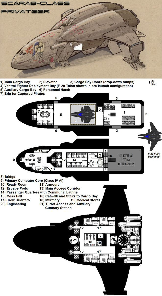 Dark Nova: Scarab Deckplans by Breandan-OCiarrai