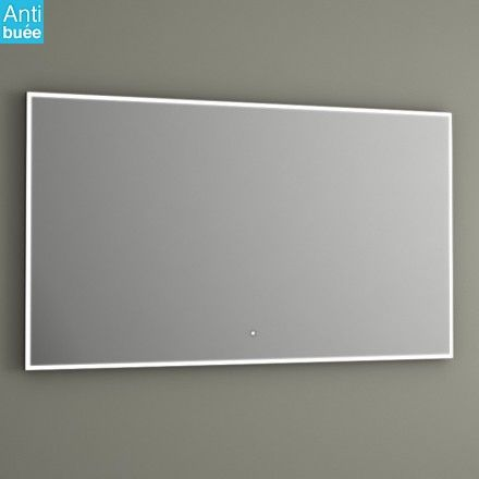 Miroir salle de bain 120x70 cm, éclairage LED, anti-buée, iDlight Edge