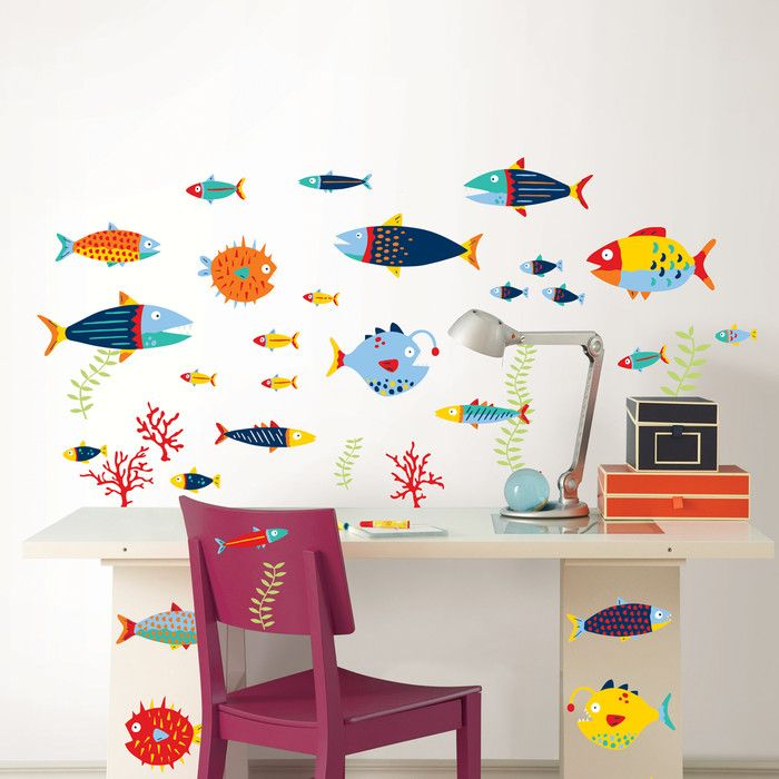 WallPops! Wall Art Kit Fish Tales Wall Decal & Reviews | Wayfair