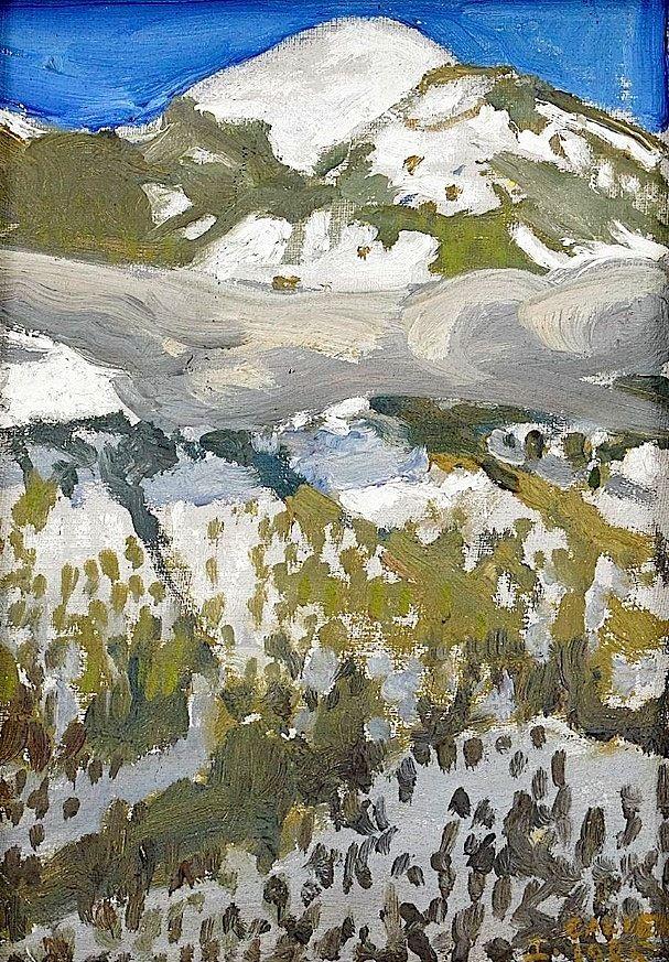 """""""The Taos Mountain"""", Akseli Gallen-Kallela"""