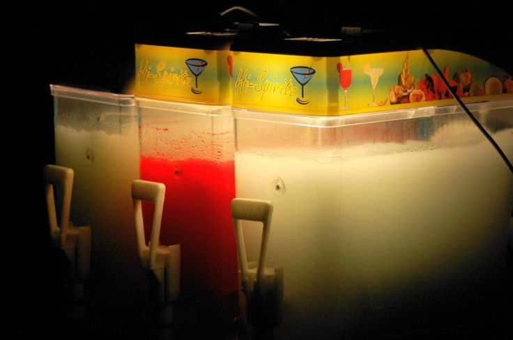 Alcoholic slush puppy machines got guests in the mood for a Wonderland Party