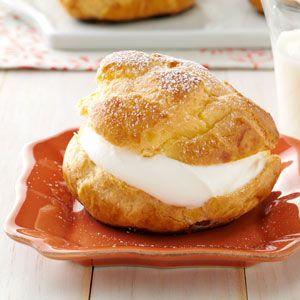 State Fair Cream Puffs Recipe from Taste of Home -- shared by Ruth Jungbluth, Dodgeville, Wisconsin