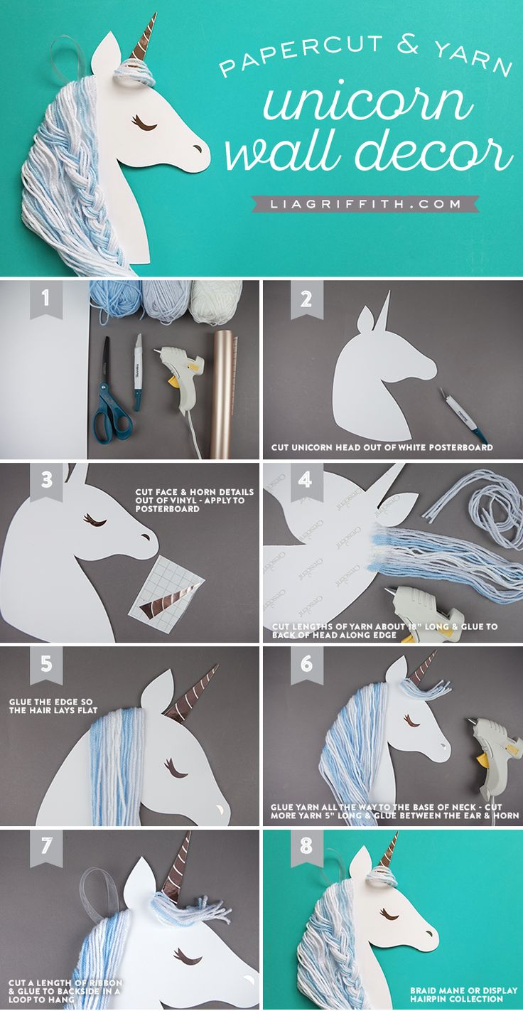 DIY Paper Unicorn Wall Artwork — Craft With Your Youngsters