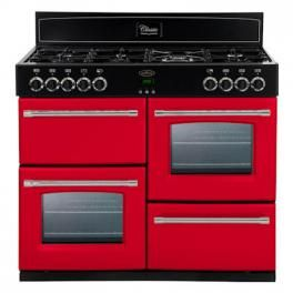 Belling Classic 100DFT range cooker in Hot Jalapeno
