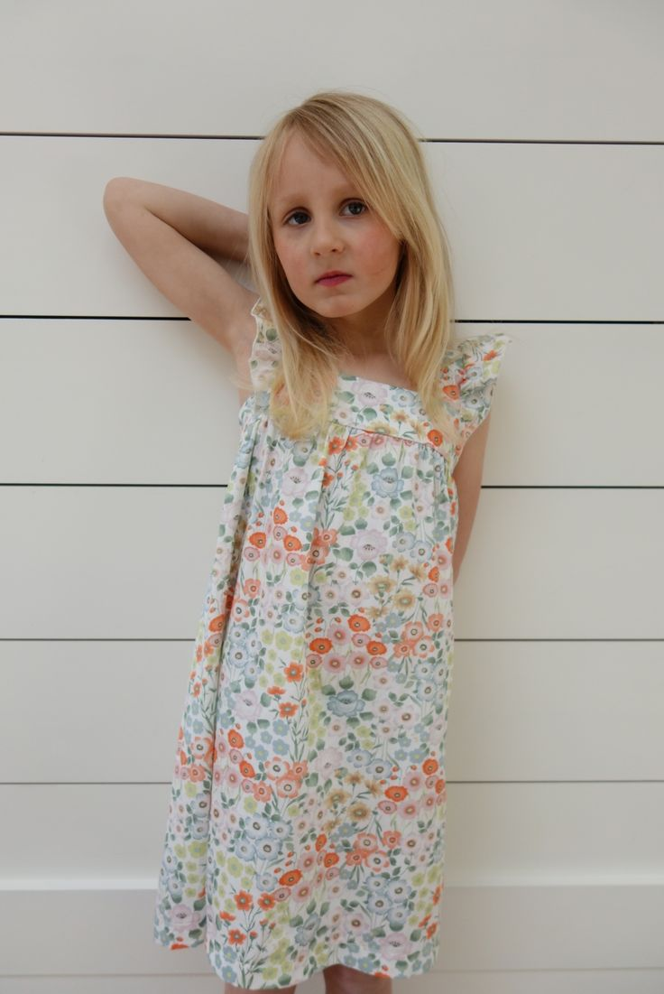Poppy Dress - White. Ages 3-10