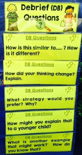 Math questions for understanding - great post and freebie from Mr. Elementary Math