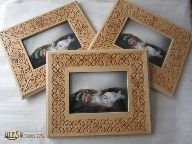 Ales the woodcarver: Chip carved picture frames