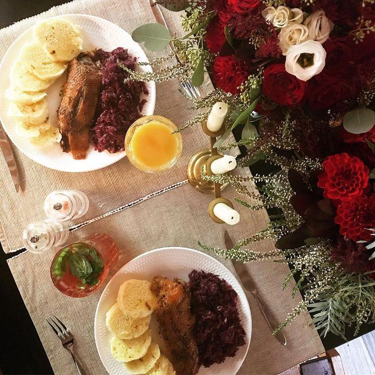 First lunch for my husband ❤️ * #goose #svatomartinskahusa #predcasne #svatecniobed #sundaylunch