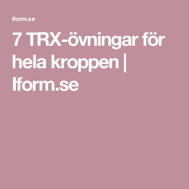 7 TRX-övningar för hela kroppen | Iform.se