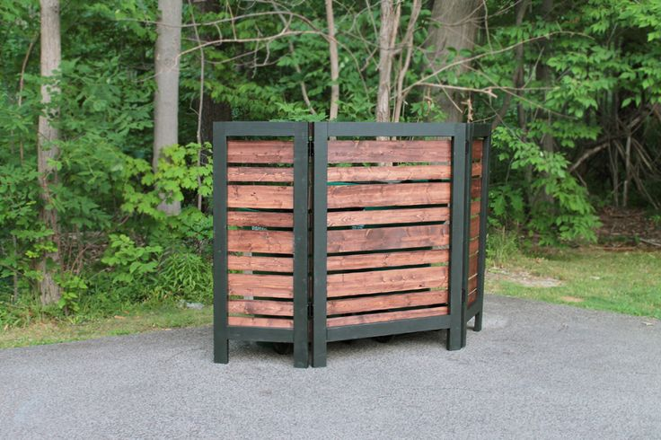 Garbage Can Privacy Screen Patio Fence Diy Privacy