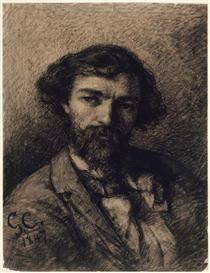 Portrait of Alphonse Promayet - Gustave Courbet