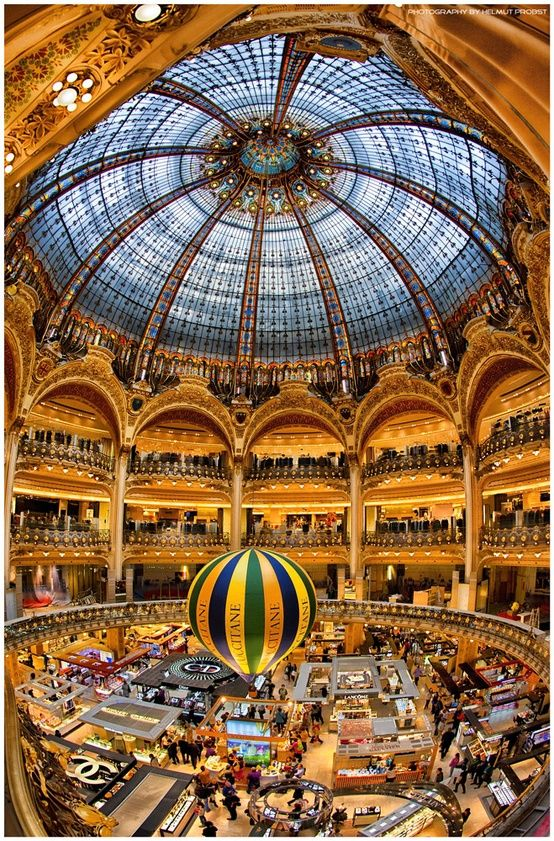 Galeries des Lafayette, Paris Remember all those boots I tried on Abbey and the watch you wished you had?