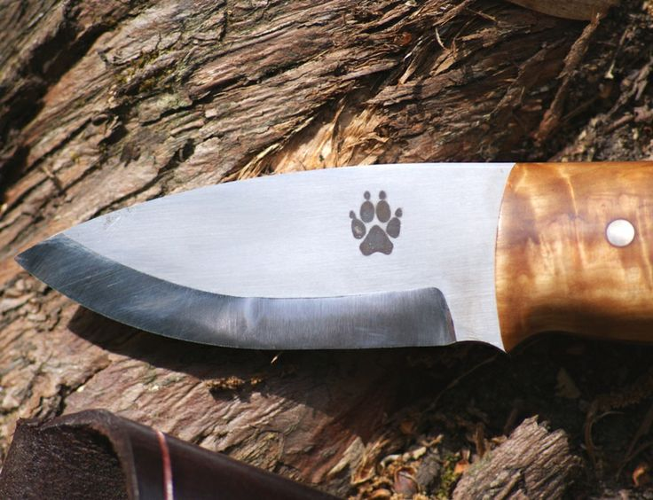The timber wolf pup bushcraft knife.