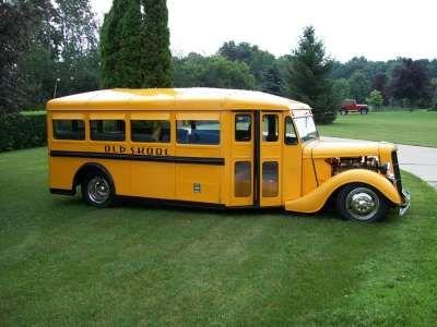 1936 Wayne Works School Bus Converted to 1987 Custom Street Rod Bus For Sale in Grafton, WI