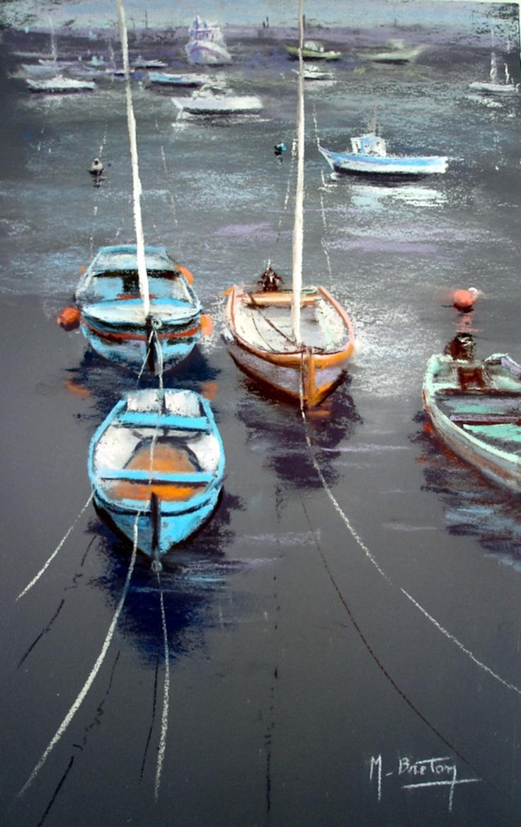 Au Port  Blog : http://michelbretonpastels.blogspot.fr/ Galerie : http://fr.artscad.com/@/BretonMichel   Facebook :  https://www.facebook.com/michelbretonpastels