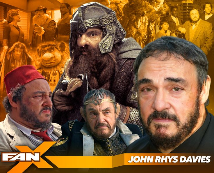 Meet actor John Rhys-Davies at #FANX17! Known for roles in Indiana Jones, Lord of the Rings, and much more! Click for more info. #utah