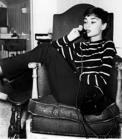 @Who What Wear - 1. Striped Shirt  You already know the preppy stripe is a classic, but how effortless does it look on Hepburn?