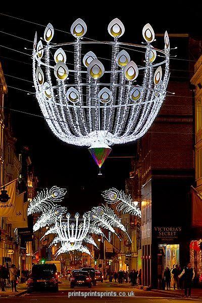 Christmas lights in New Bond Street, London