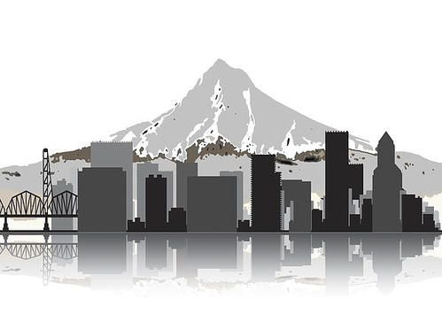 I like our current branding of Portland skyline with LBP below but it could be cool to see what the skyline would look like with Mt. Hood behind it and one of Portland's bridges to the side!