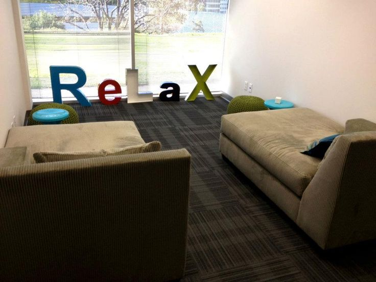 19 best interesting office spaces images on pinterest for Relaxation room ideas