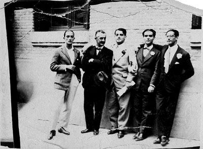 Salvador Dalí, José Moreno Villa, Luis Buñuel, Federico García Lorca and José Antonio Rubio Sacristán, Madrid, May 1926
