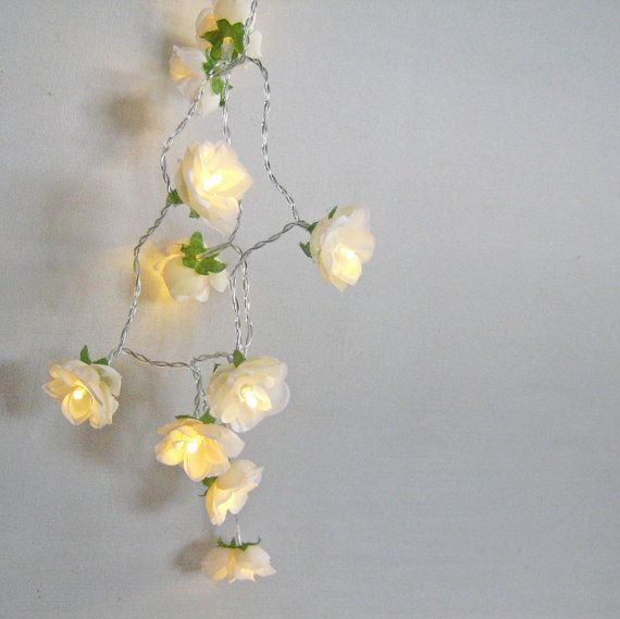 LOVE @Lia Durazzo  Vintage Champagne French Roses Fairy lights by PamelaAngus on Etsy, €17.00
