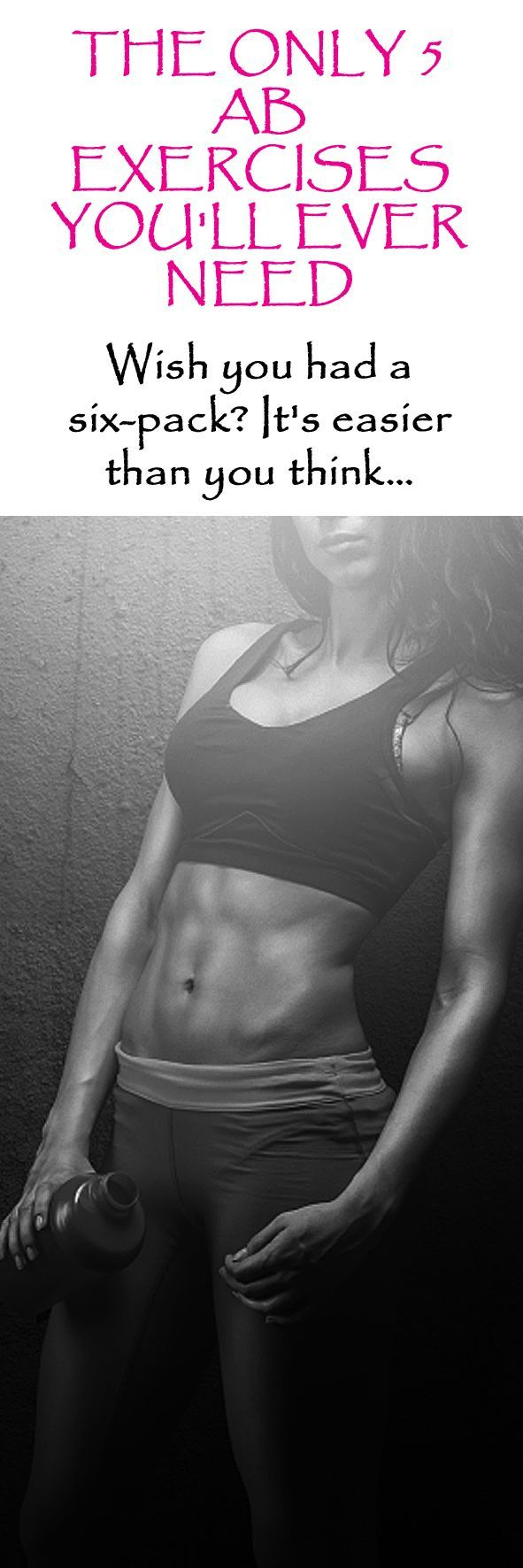 The Only 5 Ab Exercises You'll Ever Need… #abworkout #sixpack #abs #coreworkout #abexercise