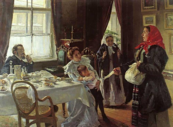 В.Е.Маковский «Две матери. Мать приемная и родная», 1905, Самарский областной художественный музей