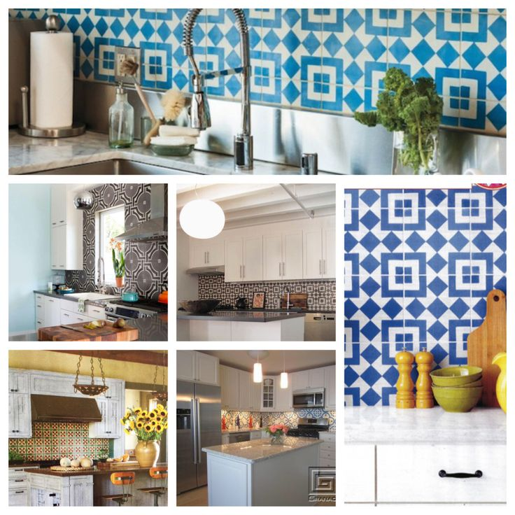 45 best granada tile 39 s geometric patterns images on for Cement tiles for kitchen