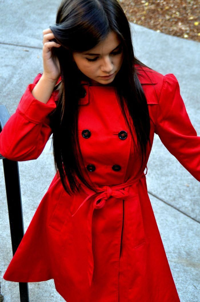 Red Trench Coat Sm Coats