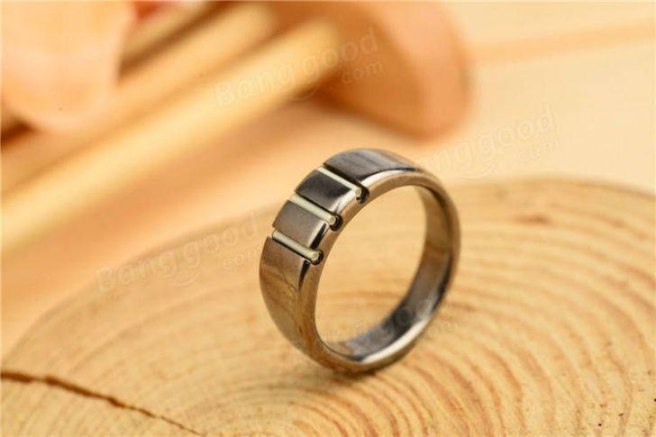 Tritium Wedding Ring Titanium Rings Rings Tritium Vial