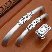 Черный и серебряной ручкой мебель описания аппаратуры шкаф дверная ручка европейский минималистский элитной рисовать слоновая кость(China (Mainland))