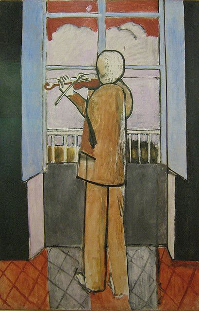 Henri Matisse, The Violinist at the Window, 1918.
