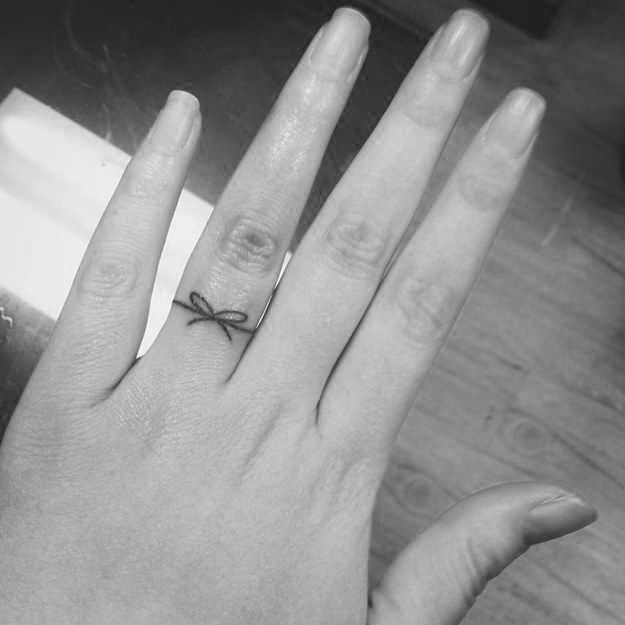 17 Best ideas about Ring Finger Tattoos on Pinterest Married