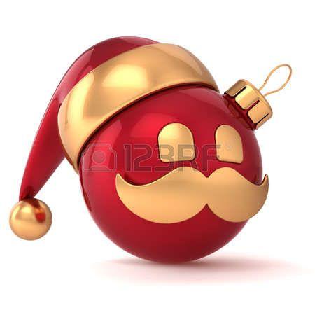 Kerst bal avatar Nieuwjaar kerstbal kerstman hoed ornament rood goud decoratie gelukkig emoticon icoon Seizoensgebonden winter Merry Xmas snor speelgoed souvenir photo