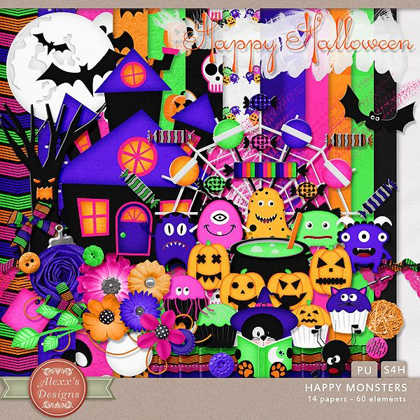Happy Monsters Kit by Alexx's Designs