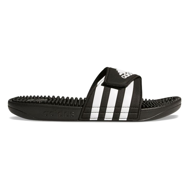 adidas Adissage Women's Sandals, Size: 6, Black