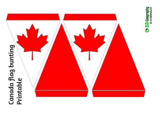 printable bunting - Canada flag |