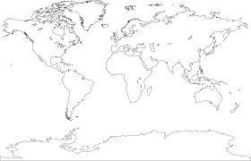 mapamundi en blanco - Buscar con Google