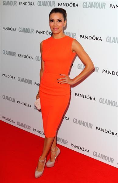 Ева лонгория в оранжевом платье
