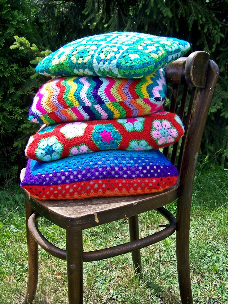 handmade crochet cushion cover cushion
