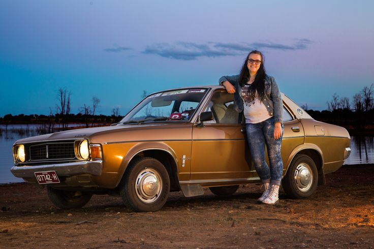Chelsea Hodge (me) with her 1975 Valiant Galant