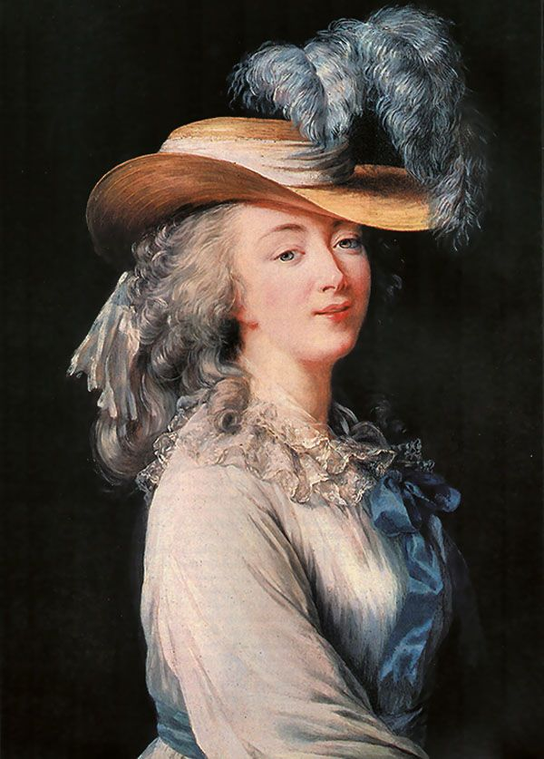 Madame du Berry, c. 1780's, by Elizabeth Vigee Lebrun ( the original of an often copied portrait)