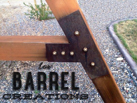 Rustic Swing Set Bracket Kit - Low Barrel Creations
