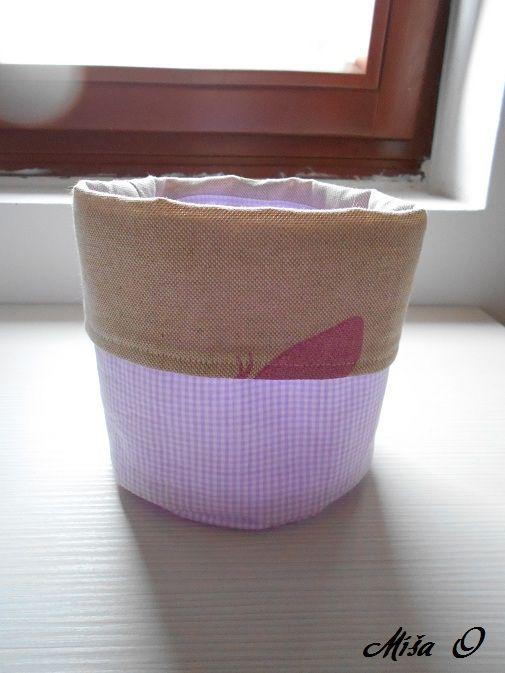 Míša O - tvoření: Textilní košíčky